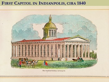 First Captiol of Indiana, c. 1840. Source: https://www.in.gov/idoa/2433.htm