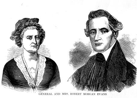 Drawing of General and Mrs. Robert Morgan Evans, n.d. Source: MSS 157-0757.