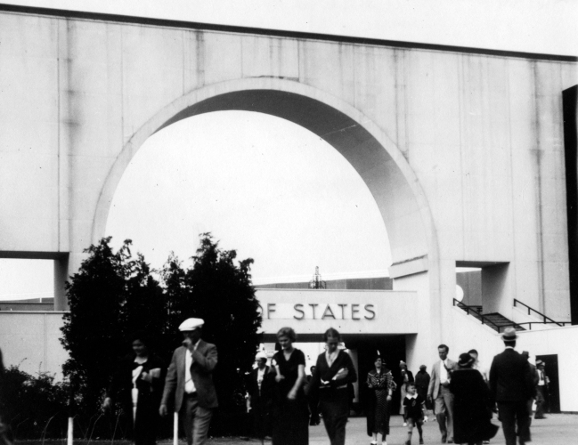 Century of Progress International Exposition, Hall of States, in Chicago, Illinois, 1933. Source: MSS 157-1408.
