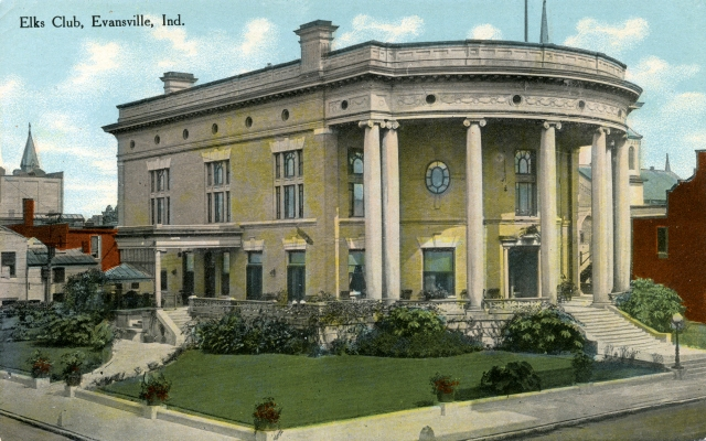 Elks Club in Evansville, Indiana, c. 1909. Source: RH 033-204.