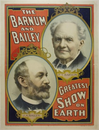 Barnum & Bailey Circus poster, circa 1896. Source: https://postermuseum.com/products/barnum-and-bailey