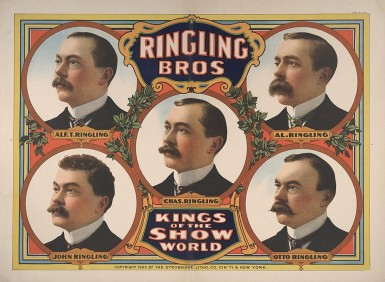 Ringling Brothers: Kings of the Show World, 1905. Source: http://tiny.cc/buakfz