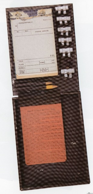 Homing Pigeon Message Kit. National Museum of the U.S. Army. Source: The Great War. U.S. Army artifacts. Washington, D.C: Center of Military History, United States Army, 2018. Special Collections, D503 .G74 2018.