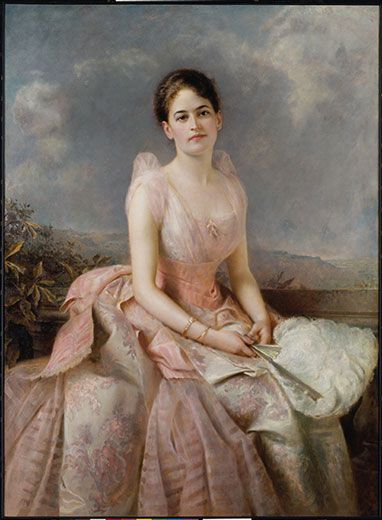 Oil portrait of Daisy Low by Edward Hughes, 1887. Source: https://bit.ly/2O3lbBd