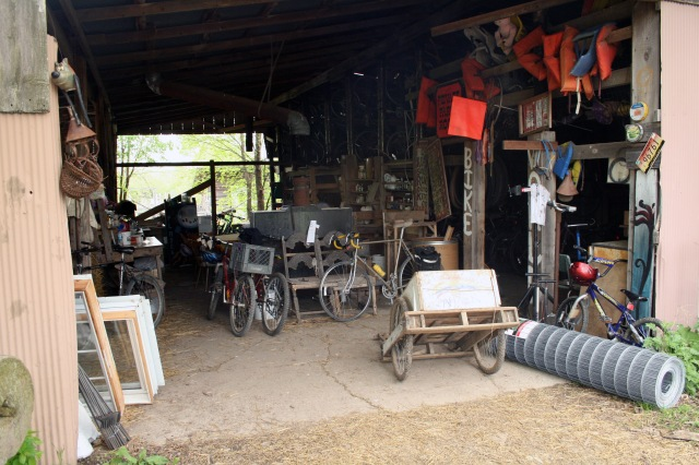 Dancing Rabbit Ecovillage bike shed, 2009. Source: Donald Janzen collection (CS 662-192dc-0006).
