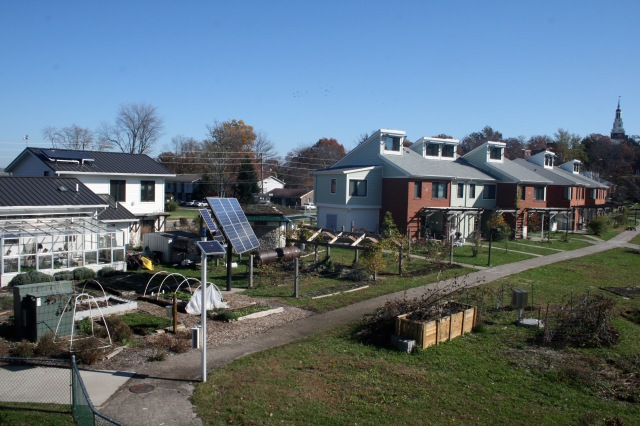 Berea College EcoVillage dwellings, 2009. Source: Donald Janzen collection (CS 622-200dc-0014).