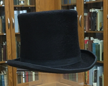 Black beaver top hat from Newburgh Museum.
