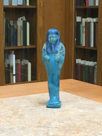 Blue Egyptian Shabti statue.
