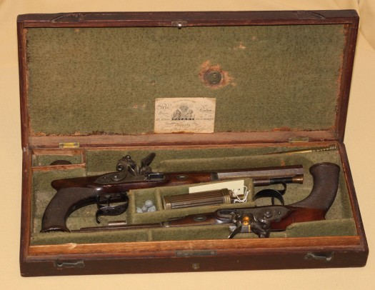 Lord Byron's Dueling Pistols from Evansville Museum.