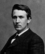 Thomas A. Edison, 1878. Photo courtesy of U. S. Department of Interior, National Park Service, Edison National Historic Site. Source: https://bit.ly/34SrdeU