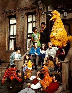 Original cast and set, n.d. Source: https://muppet.fandom.com/wiki/Sesame_Street