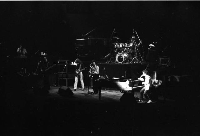 Billy Joel performing at Roberts Stadium on April 24, 1979. Source: Greg Smith Collection at University of Southern Indiana (MSS 034-3001).