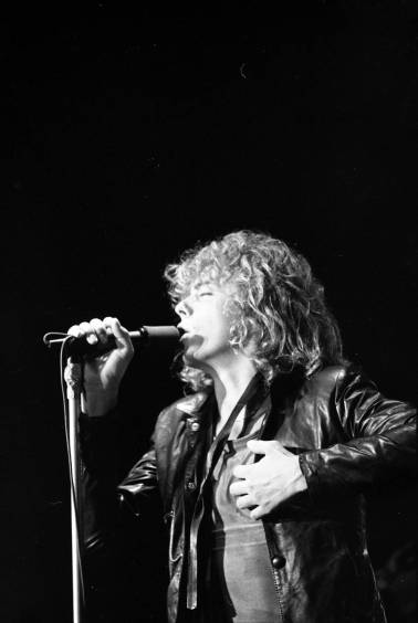 Leif Garrett performing at Roberts Stadium on August 1, 1979. Source: Greg Smith Collection at University of Southern Indiana (MSS 034-3228).