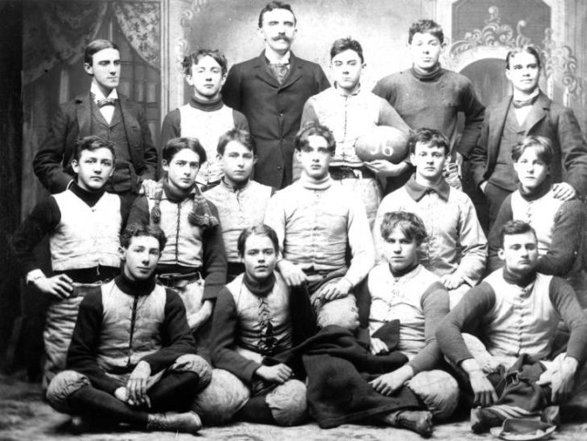 Evansville High School football team, 1896, Source: UASC, Schlamp-Meyer Family, MSS 157-0063.