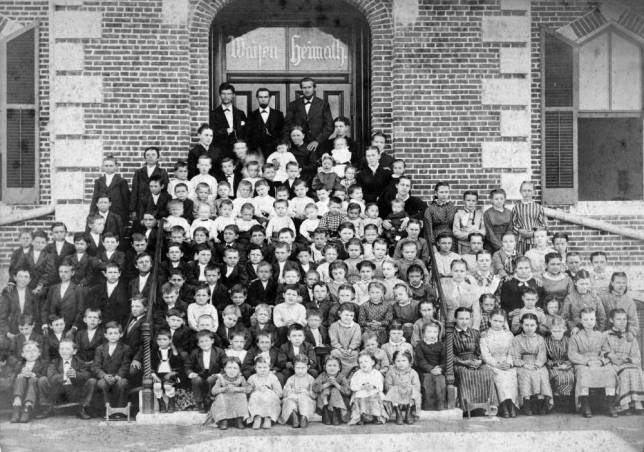In St. Charles, Missouri, the German Protestant Orphans Home was founded on January 20, 1858 by Reverend Louis Nollau, as an orphanage for children whose immigrant parents had died from cholera outbreaks, 1870. Source: Robert Schlundt collection, USI.