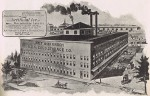 This 1895 sketch shows the size of the plant, looking northwest. Source: Historic Evansville website.