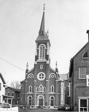 Assumption Catholic Church. Source: Darrel Bigham collection, MSS 181-1082.
