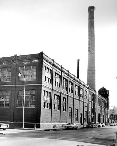 The Cook smokestack was iconic and visible from afar. Source: Sonny Brown collection, MSS 228-0133.