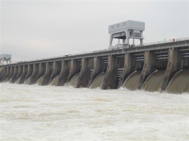 The nearest TVA project of this time period was the construction of Kentucky Dam, a hydroelectric dam at Gilbertsville, KY, built in 1944. It improved navigation on the Tennessee River and helped control flooding. This dam creates Kentucky Lake. Source: https://livingnewdeal.org/projects/kentucky-dam-gilbertsville-ky/