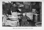 Two people in a slum during tuberculosis outbreak.