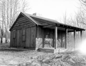 This shelter house at John James Audubon State Park in Henderson, KY was a late (1940) CCC project. Source: Thomas Mueller collection, MSS 264-2140.