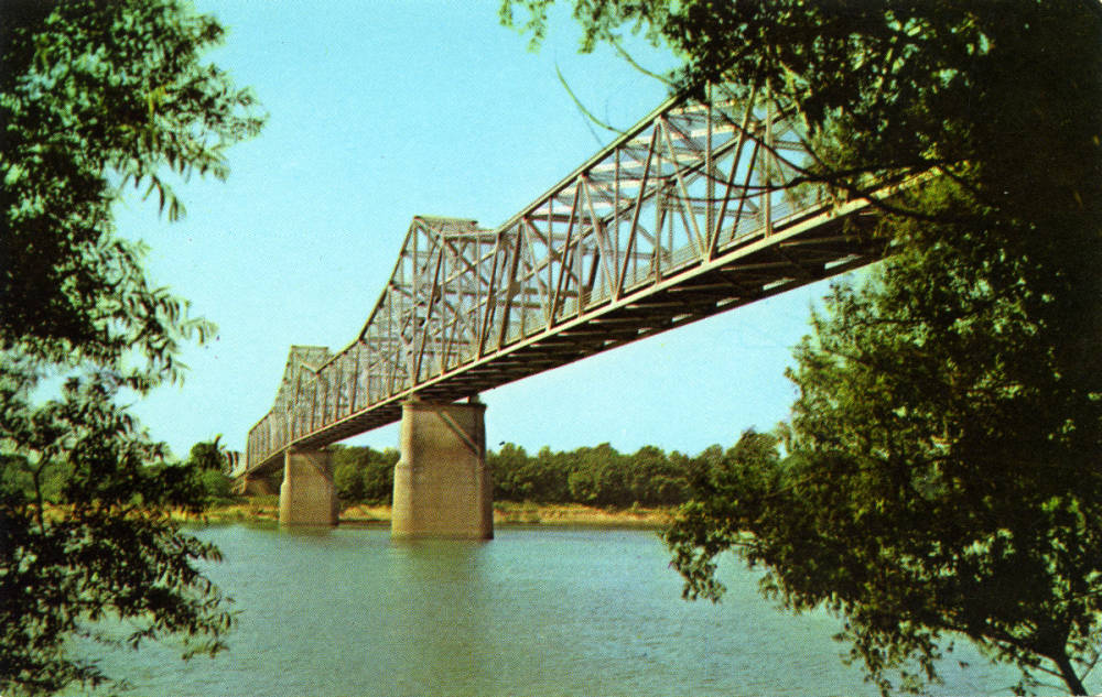 Audubon Memorial Bridge between Evansville, Indiana and Henderson, Kentucky.