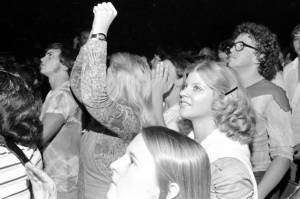 Fans of the band Chicago in Evansville, Indiana in 1976.