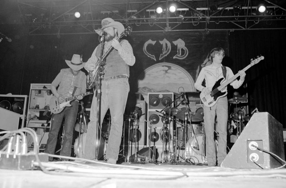 Charlie Daniels Band in concert at the Soldiers and Sailors Memorial Coliseum, 1977.