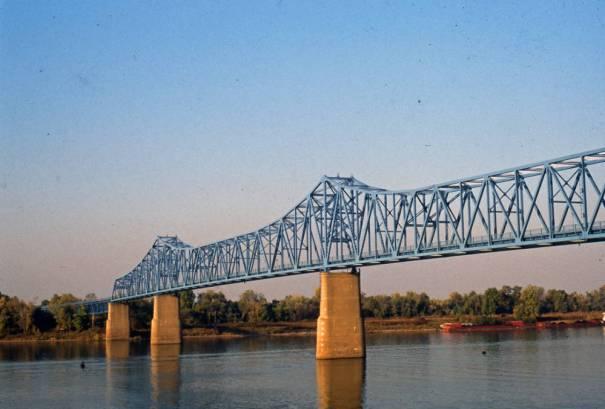 Owensboro Bridge between Owensboro, Kentucky and Indiana.