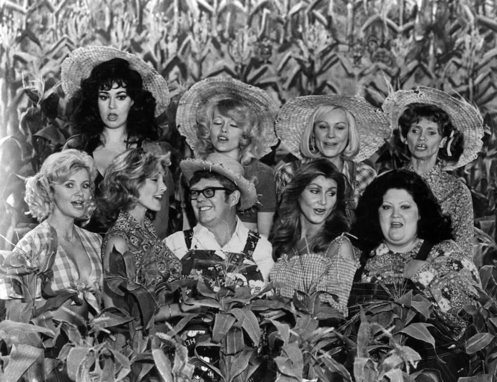 Row 1 (L-R): Gunilla Hutton, Marianne Gordon, Billy Carter, Linda Thompson, Lulu Roman; Row 2 (L-R): Lisa Todd, Misty Row, Cathy Baker, Roni Stoneman, 1978.