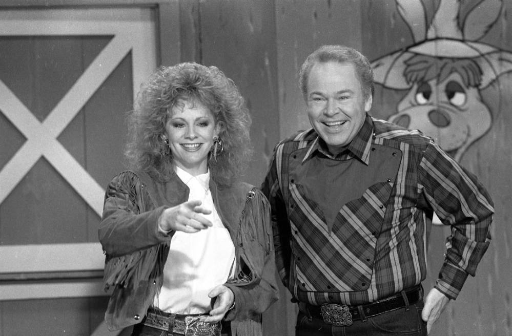 Reba McIntire and Roy Clark on Hee Haw, n.d.