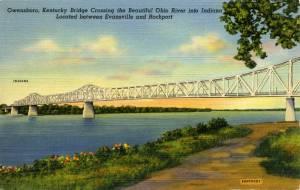 Postcard of the Owensboro Bridge.
